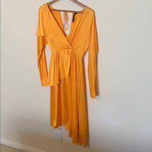 Silk Topshop Golden Dress